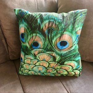 Other - Blue and green peacock pillow cushion cover